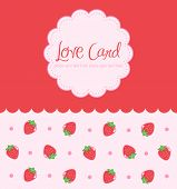 Sweet Strawberry Card Design
