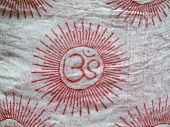 OM design on a scarf cloth