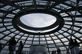 sky view of the reichstag dome from inside