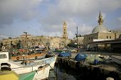 fishing harbour; in akko: israel