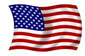 foto of waving american flag  - waving american flag - JPG