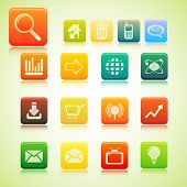 illustration of set of web icon