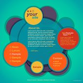Abstract web site design,vector template