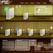 webstore template, vector