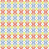 Ethnic blue and red ornament seamless pattern