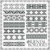 Raster oriental style ornament elements. (vector available in portfolio)