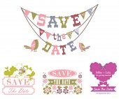 Set of save the date design