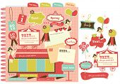 picture of storyboard  - Cute scrapbook elements  - JPG