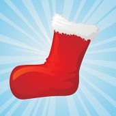vector image of christmas gift sock