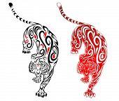 Tiger Tattoo Swirl