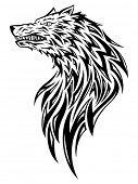 Wolf tribal/tattoo style