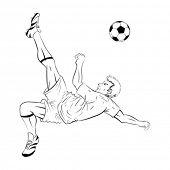 Soccer player lineart