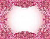 Pink Mandala Border