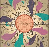 VIntage Floral Background. Prefect for Greeting Card, Label, Packaging.
