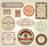 image of olive shaped  - Illustration Retro Label - JPG