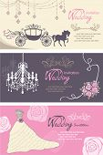 Wedding cards design template