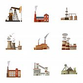 Production Icons Set. Cartoon Illustration Of 9 Production Icons For Web poster