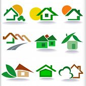 REAL ESTATE HOUSES ICON SET - NEW