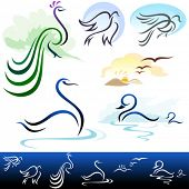 AMAZING    BIRDS  VECTOR  SET