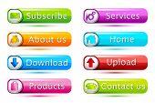 ilustração do conjunto de ícone para web em fundo isolado