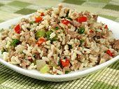 stock photo of giblets  - A delicious traditional Cajun rice dish which is made  - JPG