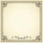 Vintage frame. Could be used for invitation, certificate or diploma