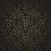 Damask seamless pattern on gradient background. Could be used as repeating wallpaper, textile, wrapp