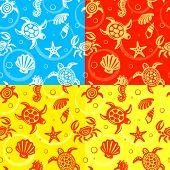 Seamless Turtles Pattern