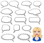 Speech Bubbles and girl avatar