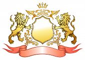 Golden Lion Shield Insignia