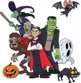 stock photo of dracula  - Classic Halloween creatures - JPG