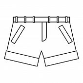 Shorts Icon. Outline Illustration Of Shorts Icon For Web poster