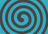 Psychedelic Spiral With Radial Rays. Swirl Spin Comic Vector poster