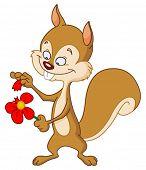 niedlichen Eichhörnchen spielen Liebe love me mich nicht