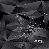 Abstract background with black triangles and sprays