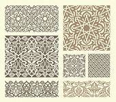 background with seamless pattern in Arabian style