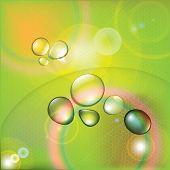 Gotas de agua de vector colorido