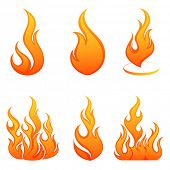 stock photo of fire  - Fire flames - JPG