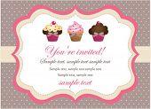 Постер, плакат: Cupcake старинные карты