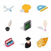 Handicraft Production Icons Set. Isometric Set Of 9 Handicraft Production Icons For Web Isolated On  poster