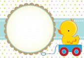 Cute baby boy arrival card