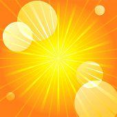 Abstract yellow sunburst light background.