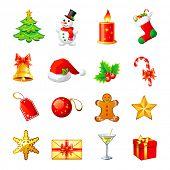 Vector Christmas icon. Set 1.
