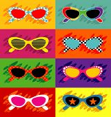 Collection of pop art sunglasses