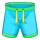 Sport Shorts Icon. Cartoon Illustration Of Sport Shorts Icon For Web Design poster
