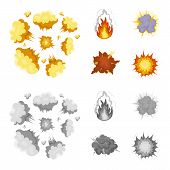 Flame, Sparks, Hydrogen Fragments, Atomic Or Gas Explosion, Thunderstorm, Solar Explosion. Explosion poster