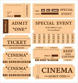 set of vintage tickets with place for text (look for vector version in my portfolio)