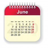 calendar - june (look for other month in my portfolio)