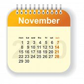 calendar - november (look for other month in my portfolio)