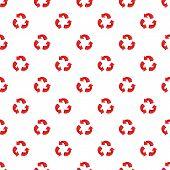 Three Circular Arrows Pattern. Cartoon Illustration Of Three Circular Arrows Pattern For Web poster